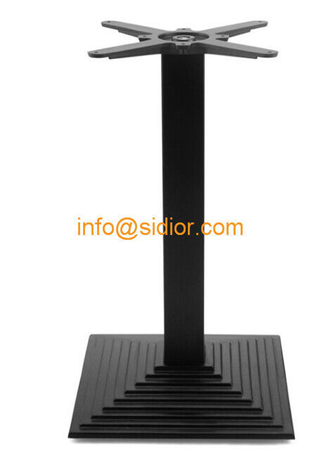 Black Metal Table Base Powder Coated Dining Table Leg Die Casting - Black metal dining table base
