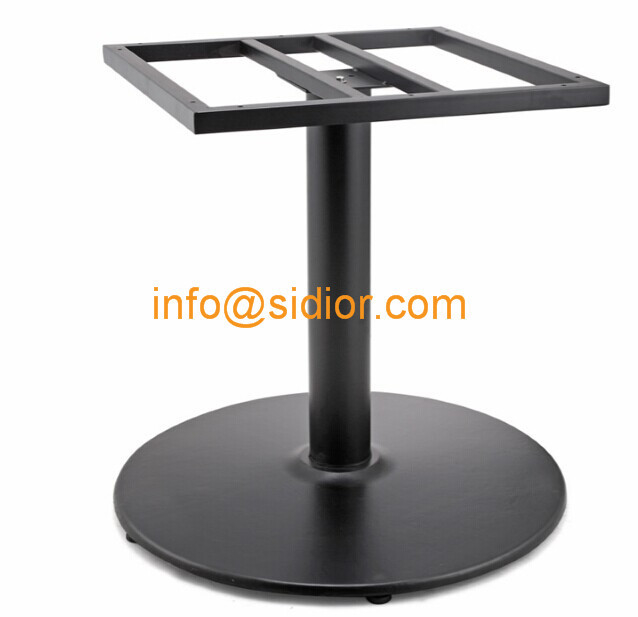 Black Metal Table Base. Powder Coated Dining Table Leg, Die Casting Iron Table  Legs SD 706