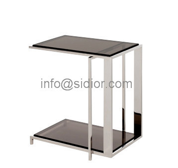 Stainless Steel Glass Top Coffee Table, Tea Table, Center Table, Side Table  SD 5001