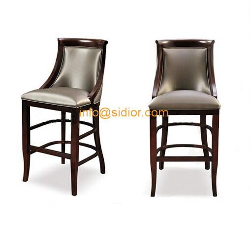 CL Luxury club bar furniture solid wood bar chair wooden bar stool high bar chair
