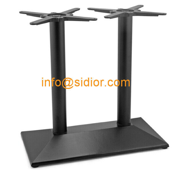 black metal table base powder coated dining table leg die casting