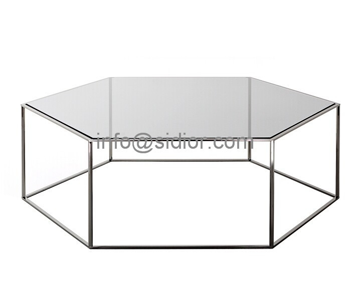 Stainless Steel Glass Top Coffee Table Tea Table Center Table Side Table Sd 5004