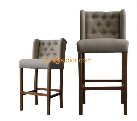 cl 4403 luxury club bar furniture solid wood bar chair