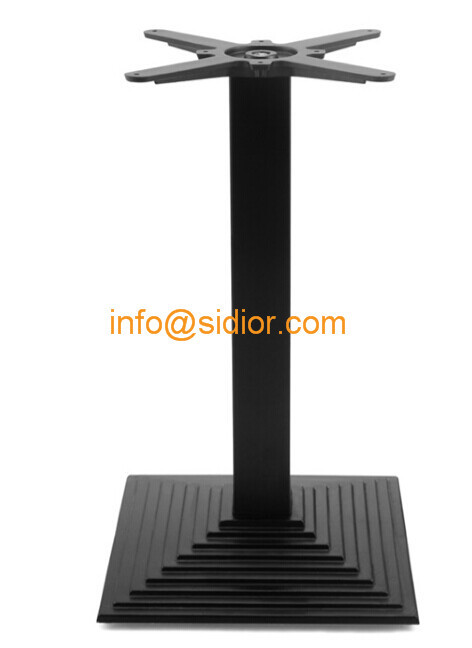 Black Metal Table Base. Powder Coated Dining Table Leg, Die Casting Iron  Table Legs SD 702