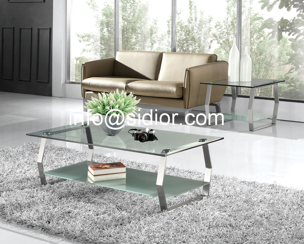 stainless steel glass top coffee table, tea table, center table ...