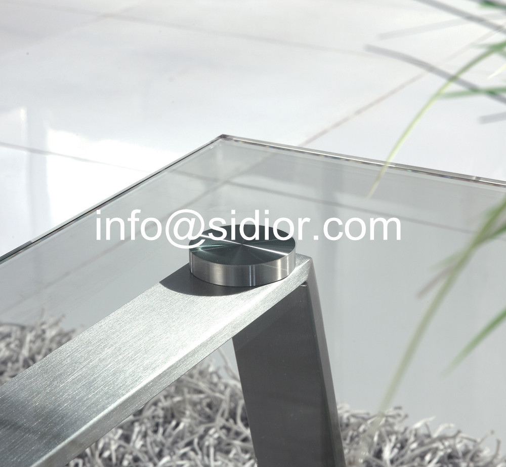 Stainless Steel Glass Top Coffee Table, Tea Table, Center Table, Side Table  SD 5006