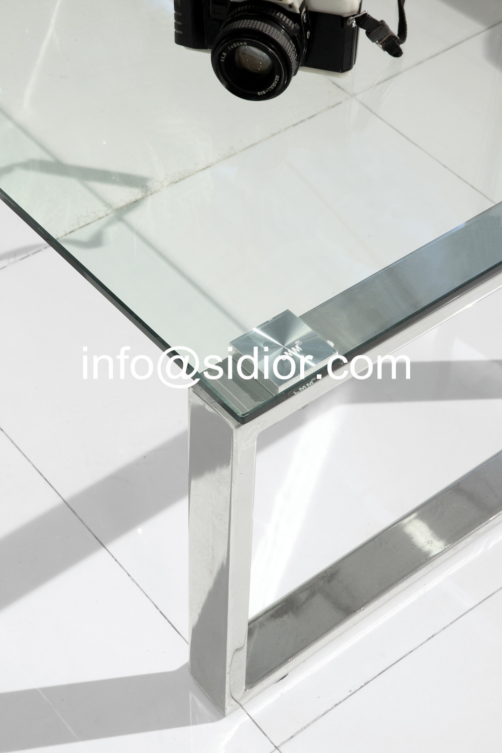Stainless Steel Glass Top Coffee Table, Tea Table, Center Table, Side Table  SD 5007