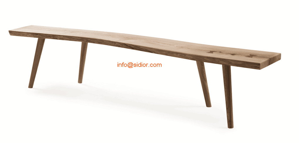 SL 8503 2 Hotel Restaurant Furniture Living Room Chair Long Solid Wood Bench