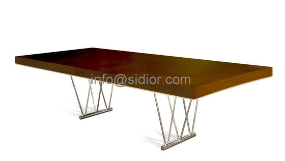 wooden dining table,visitor desk, reception desk, meeting table, S.steel table SD-3001