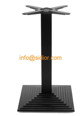 black metal table base. powder coated dining table leg, Die casting iron table legs SD-702