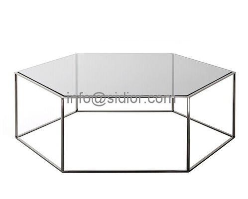 stainless steel glass top coffee table, tea table, center table, side table SD-5004