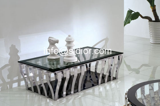 stainless steel glass top coffee table, tea table, center table, side table SD-5010