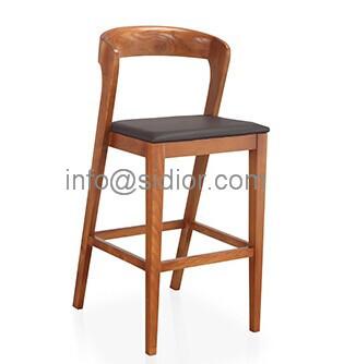 SD-1012B Modern club bar furniture, solid wood bar chair, wooden bar stool, high bar chair
