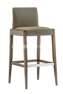 SD-1008B Modern club bar furniture, solid wood bar chair, wooden bar stool, high bar chair