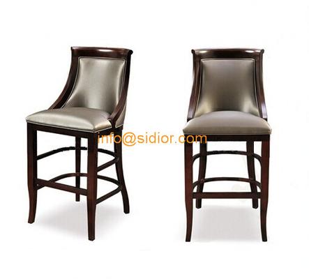 CL-4402 Luxury club bar furniture, solid wood bar chair, wooden bar stool, high bar chair