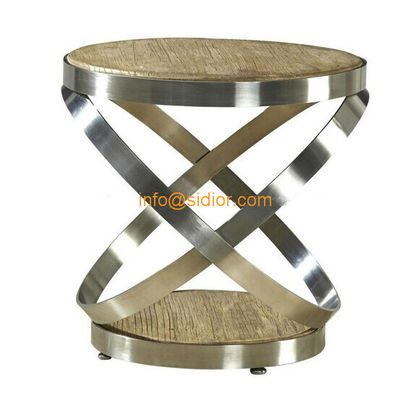 CL-5501 luxury stainless steel tea table, center table, side table, wooden coffee table